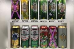 """- AUT001 ASPACHER Urbräu Premium Bier 2011 3 EURO - AUT002 BAUMGARTNER Märzen 2014 2 EURO - AUT003 BAUMGARTNER Märzen """"Soccer Edition"""" 2016 4 EURO - AUT004 ALMRADLER 2012 2 EURO - AUT006 ALMRADLER """"Natürlich ohne Süsstoff"""" 2013 2 EURO - AUT007 BERGKÖNIG STRONG 7,2% 2010 3 EURO - AUT008 BERGKÖNIG Zitroonenradler 2008 2 EURO - AUT009 BERGKÖNIG Märzen """"FE"""" 2008 2 EURO - AUT010 BERGKÖNIG Märzen """"ALU"""" 2016 2 EURO - AUT011 BERGKÖNIG Märzen """"Football Edition 2008"""" 4 EURO - AUT012 BERGKÖNIG  Märzen """"South Africa Edition"""" 2010 4 EURO"""