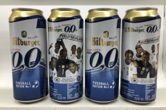 BCS009 BITBURGER ALKOHOLFREI FUSSBALLEDITION (2016) 2 CAN SET GERMANY 8 EURO