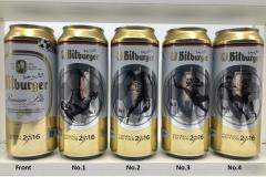 BCS010 BITBURGER FUSSBALLEDITION (2016) 4 CAN SET GERMANY 12 EURO
