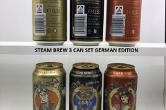 BCS017 STEAM BREW GERMAN EDITION 3 CAN SET  GERMANY (2018) 8 EURO