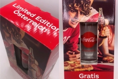 Coke Glass Limited Austria Edition 4 EUR without box /6 EUR with box