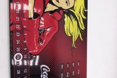 Coke sheet calendar magnetically adjustable 10 EUR