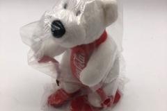 Coca Cola plush polar bear on skies 5 EUR